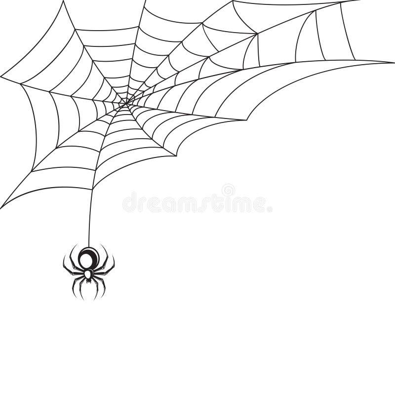 Papier peint de toile d'araignée illustration libre de droits