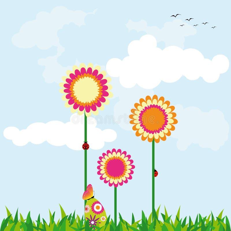 Papier peint de vacances de Pâques de printemps illustration stock