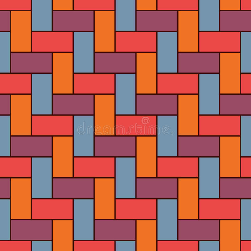 Papier peint de verrouillage rectangulaire de blocs Fond de parquet Conception extérieure sans couture de modèle avec des rectang illustration libre de droits