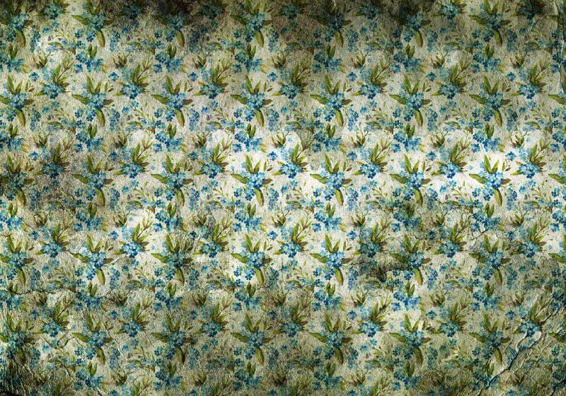 papier peint de vintage avec de petites fleurs bleues image libre de droits image 30331756. Black Bedroom Furniture Sets. Home Design Ideas