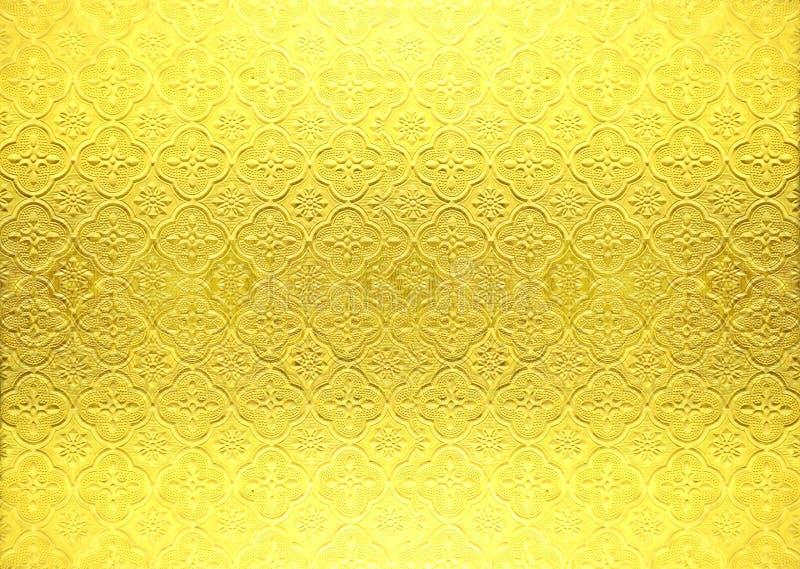Papier peint de vintage d'or image libre de droits