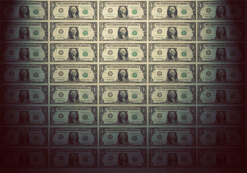 Papier peint des billets de banque de l'un dollar Humeur de vintage photographie stock