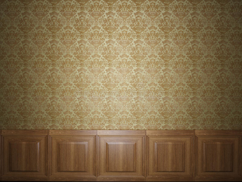 Papier peint en bois de panneau photographie stock libre de droits