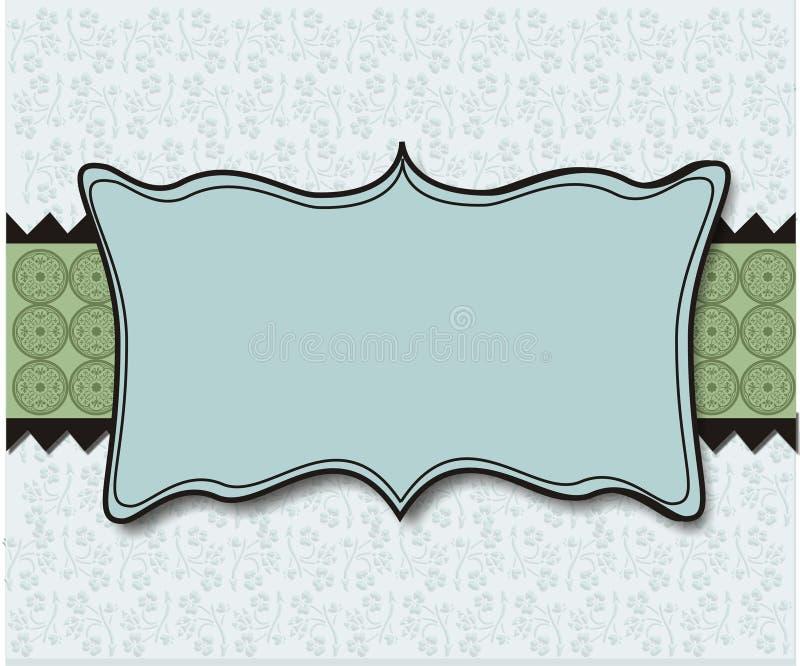 Papier peint en pastel de fond de plaque de vert bleu illustration libre de droits