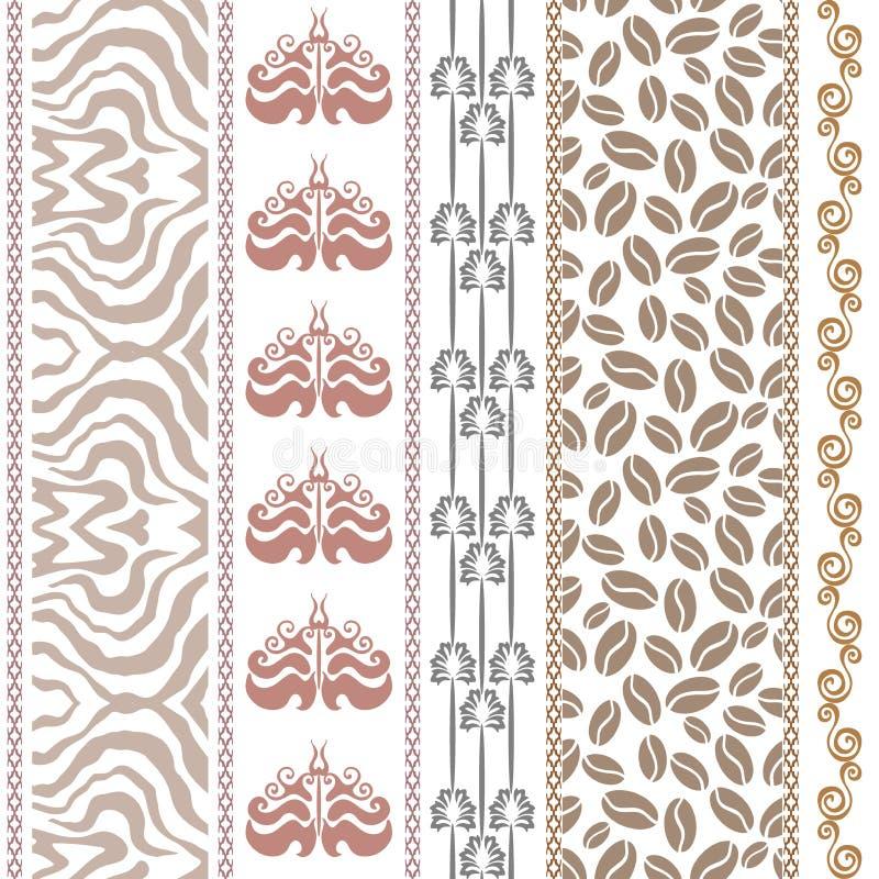 Papier peint en soie de vintage d 39 art d co avec des motifs ethniques et d - Papier peint art deco ...