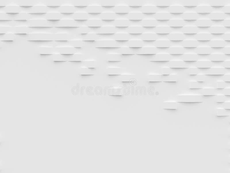 Papier peint et fond abstraits du blanc 3D illustration libre de droits