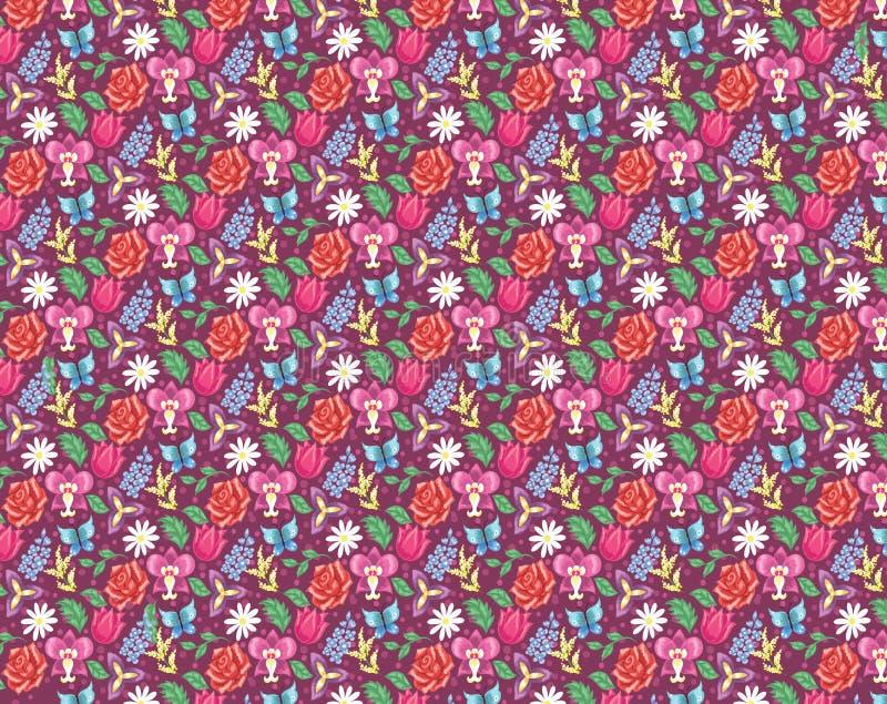 Papier peint floral. illustration stock