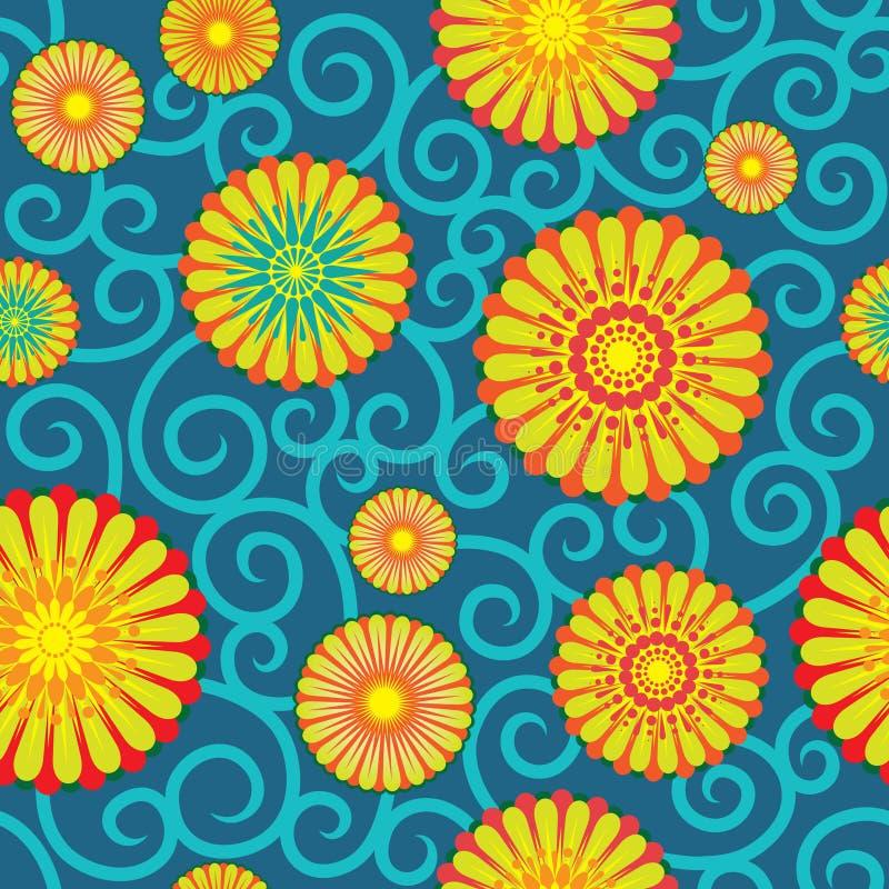 Papier peint floral illustration libre de droits