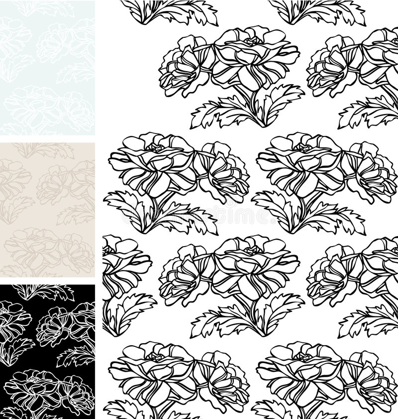 Papier peint floral illustration stock