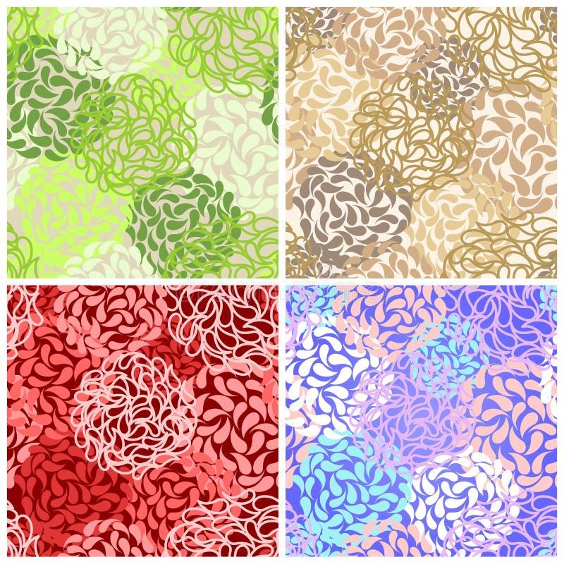 Papier peint floral abstrait sans joint de fond illustration libre de droits