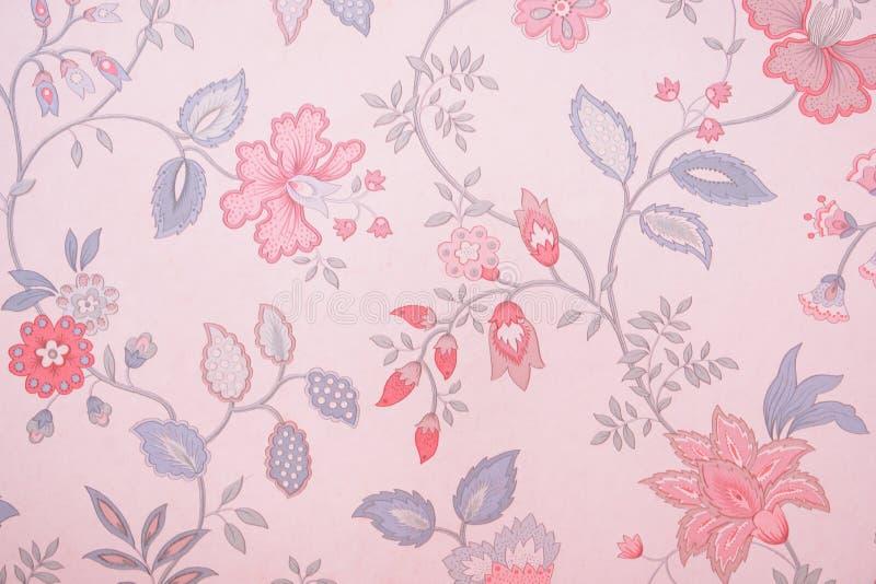 Papier peint floral de cru photo stock