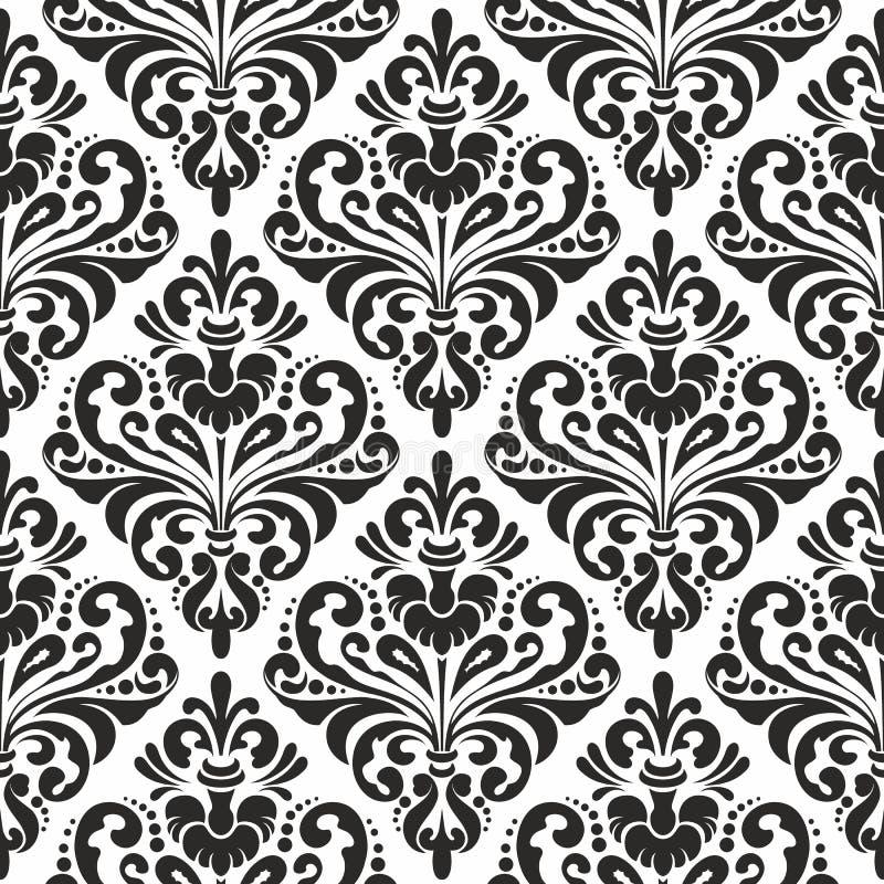 Papier peint floral de damassé illustration libre de droits