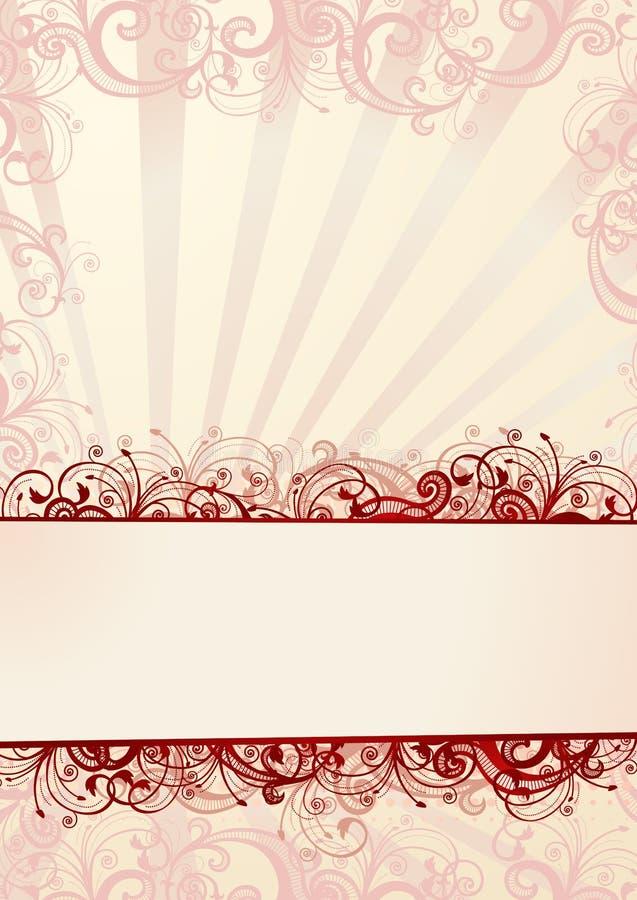Papier peint floral de vecteur avec le copie-espace illustration de vecteur