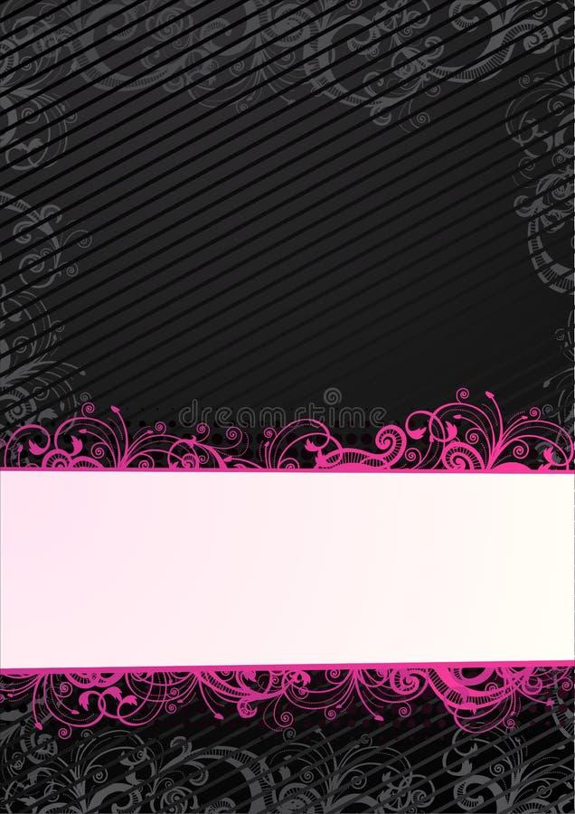 Papier peint floral noir de vecteur avec le copie-espace illustration de vecteur