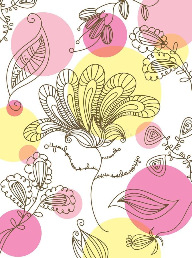 papier peint floral sans joint illustration libre de droits