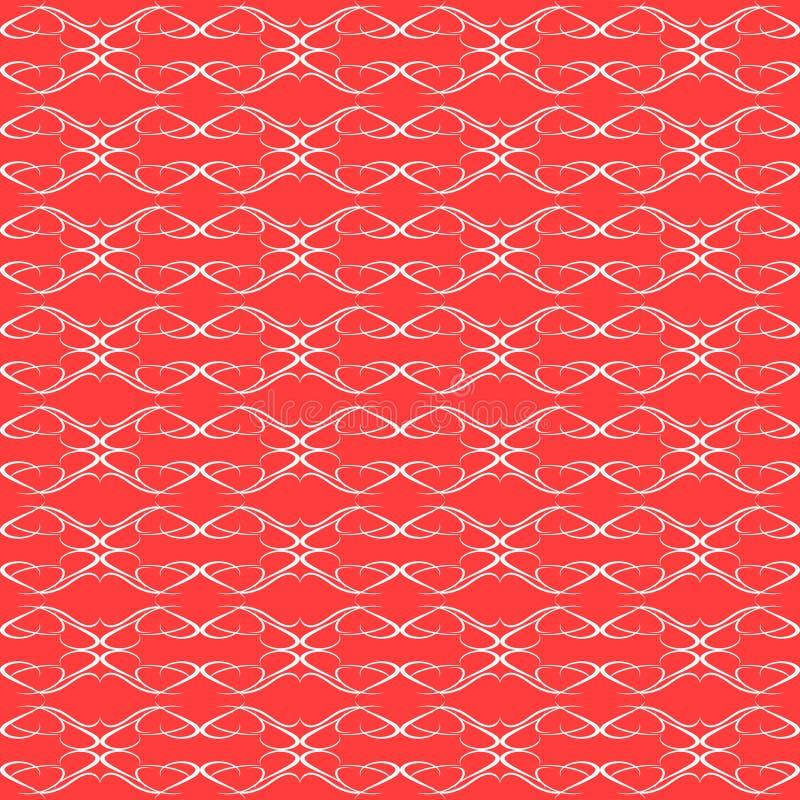 Papier peint floral sans joint rouge de configuration de fond illustration stock