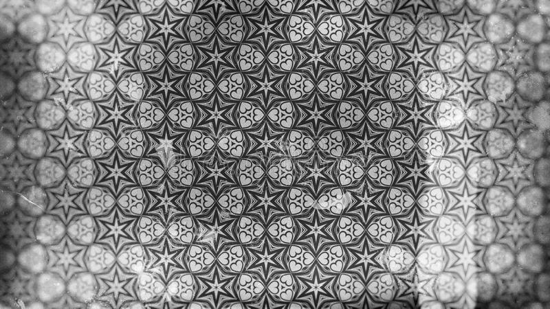 Papier peint foncé de Gray Vintage Decorative Floral Pattern illustration libre de droits
