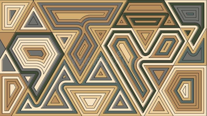 Papier peint géométrique aléatoire de formes Illustration de vecteur Abstra illustration stock