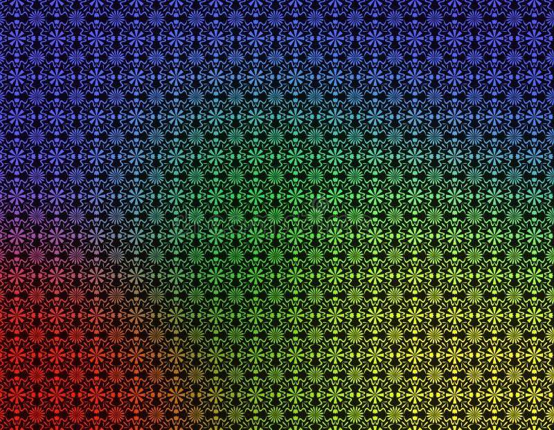 Papier peint géométrique bleu jaune vert rouge illustration libre de droits