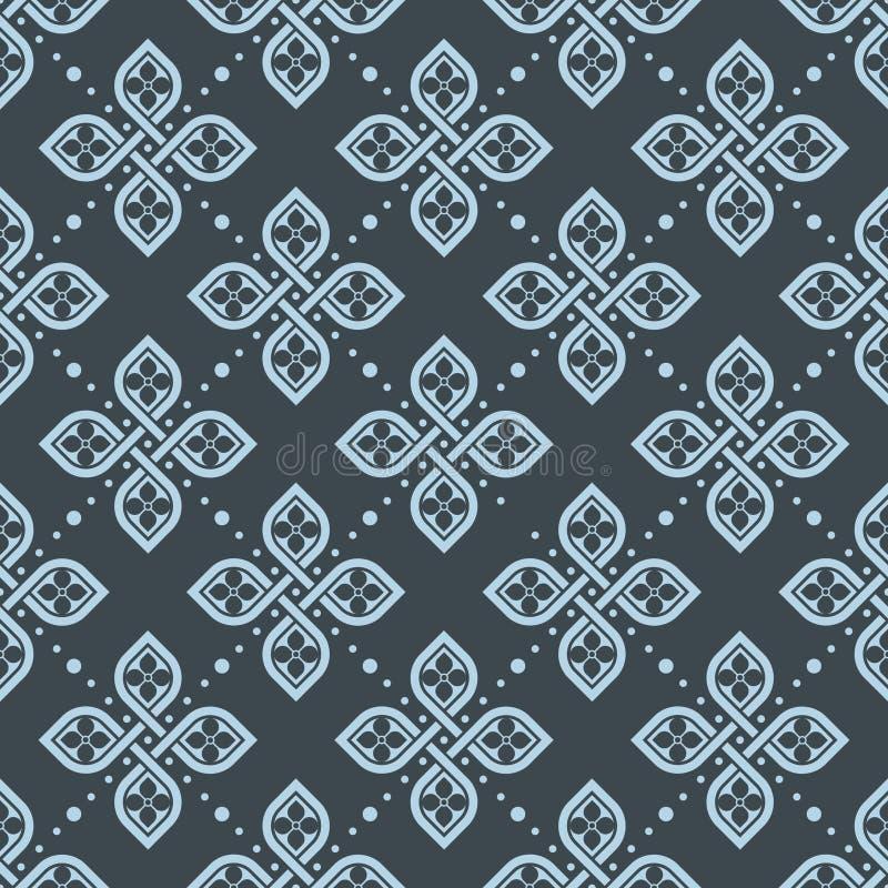 Papier peint géométrique floral sans couture de modèle illustration de vecteur