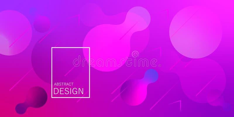 Papier peint géométrique Le gradient liquide forme la composition illustration stock