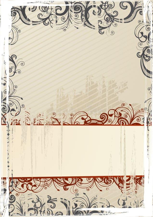 Papier peint grunge beige de vecteur avec le copie-espace illustration libre de droits