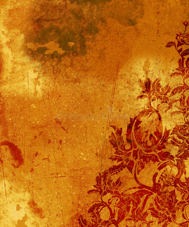 Papier peint grunge brûlé illustration libre de droits