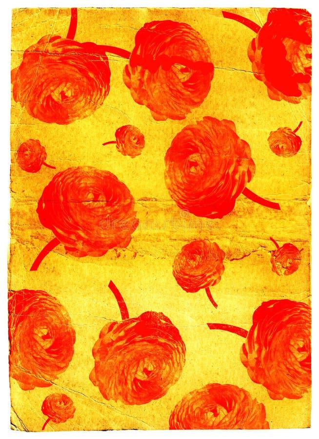 Papier peint grunge de fleur illustration stock