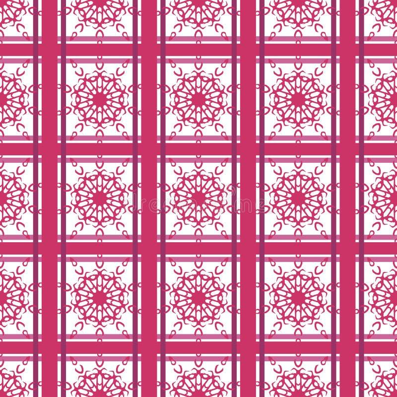 Papier peint islamique arabe chinois d'Imlek Ramadan Festival Pattern Texture Background de nature de Violet Pink Oriental Orname illustration stock