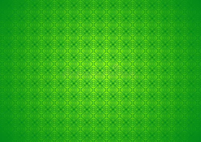 Papier peint islamique arabe chinois de fond d'Imlek Ramadan Festival Green Pattern Texture de nature florale ornementale orienta illustration stock
