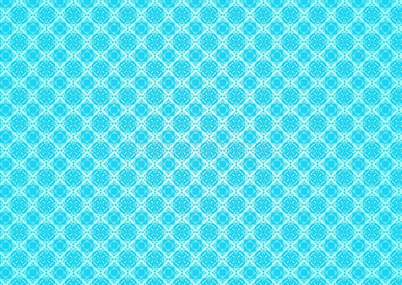 Papier peint islamique arabe chinois ornemental oriental d'Imlek Ramadan Festival Pattern Texture Background de vintage bleu flor illustration de vecteur