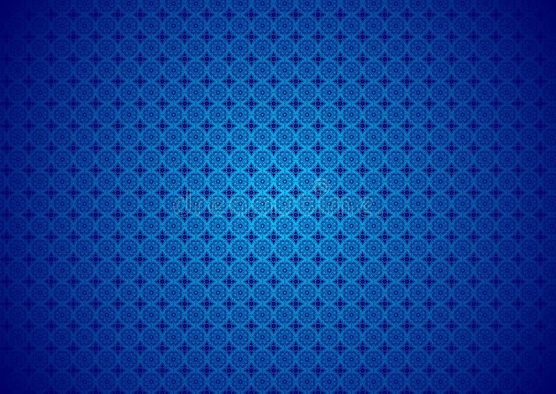 Papier peint islamique arabe chinois ornemental oriental d'Imlek Ramadan Festival Pattern Texture Background de vintage bleu flor illustration stock
