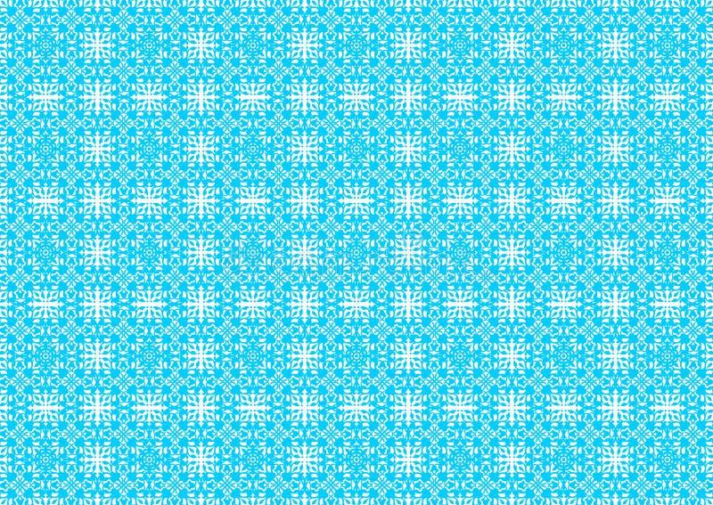 Papier peint islamique arabe chinois ornemental oriental floral de fond de texture d'Imlek Ramadan Festival Light Blue Pattern de illustration de vecteur