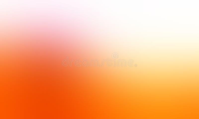 Papier peint jaune et blanc orange de fond de tache floue de couleur en pastel illustration de vecteur