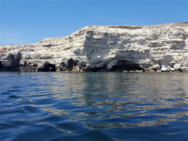 papier peint la Mer Noire de la Crimée de vue de l'eau bleue de mer image stock