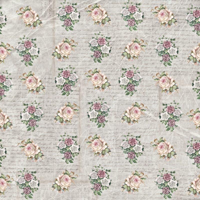 Papier peint manuscrit floral de vintage photographie stock