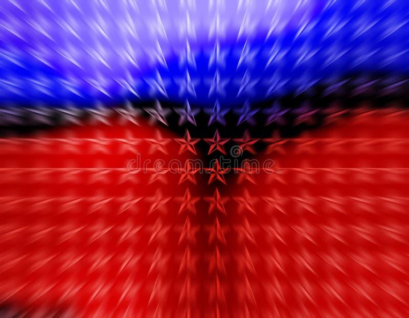 Papier peint mobile d'étoiles rouges et bleues illustration libre de droits