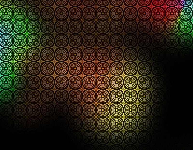 Papier peint modelé vert rouge jaune noir de fond illustration stock