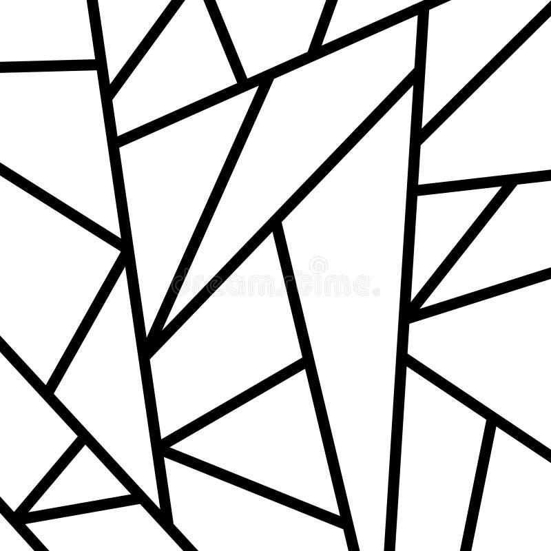 Papier peint moderne de mosaïque en noir et or illustration libre de droits