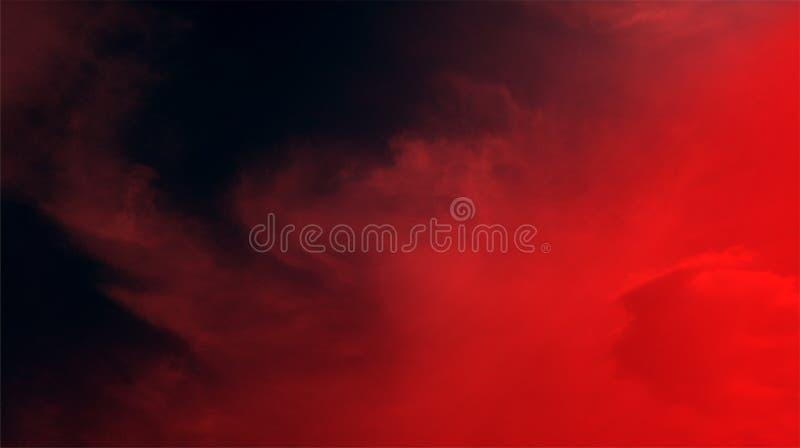 Papier peint noir de fond de texture d'effets de mélange de couleur rouge de nuages fumeux image libre de droits