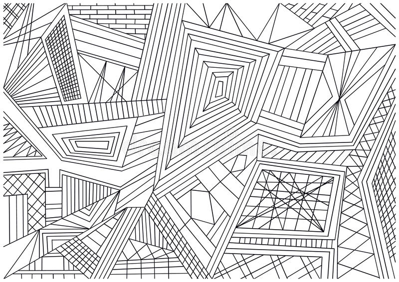 Papier peint noir et blanc de tuiles de mosaïque illustration de vecteur