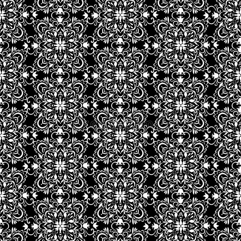 Papier peint noir et blanc de vintage r illustration de vecteur image 54026952 - Papier peint noir et argent ...