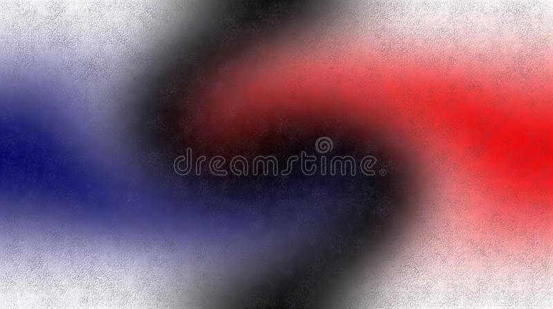 Papier peint ombragé brouillé texturisé blanc rouge noir bleu de fond illustration vive de vecteur de couleur illustration de vecteur