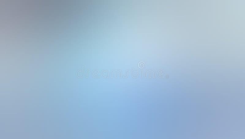 Papier peint ombragé de bleu de ciel et blanc de couleur en pastel de tache floue de fond illustration libre de droits