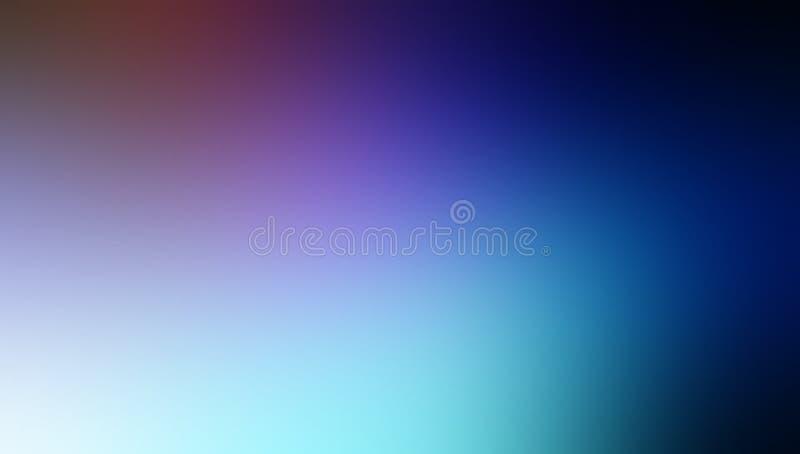 Papier peint ombragé de fond de tache floue de brun bleu noir et de couleur en pastel de ciel illustration stock