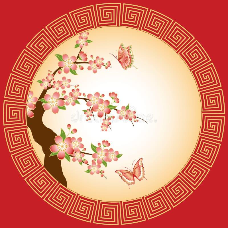 Papier peint oriental de fleur de plomb illustration libre de droits
