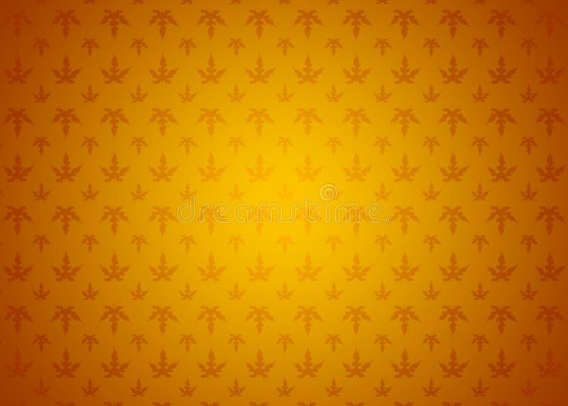 Papier peint ornemental de fond de texture de modèle d'Autumn Spring Gradient Orange Yellow de feuilles illustration stock