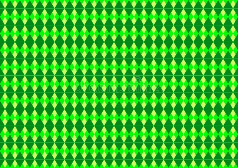 Papier peint ornemental oriental de fond de modèle de techno géométrique coloré par vert au néon sans couture illustration stock