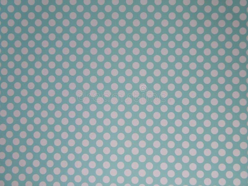Papier peint pointillé bleu et crème de Duck Egg de fond images libres de droits