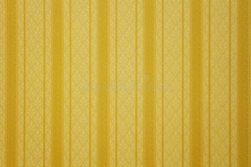 Papier peint rayé d'or photos libres de droits